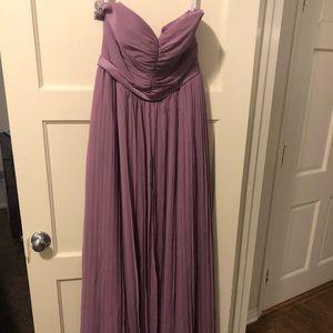 Lilac Chiffon Bridesmaid dress